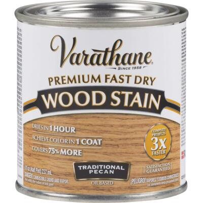Varathane Fast Dry Traditional Pecan Urethane Modified Alkyd Interior Wood Stain, 1/2 Pt.