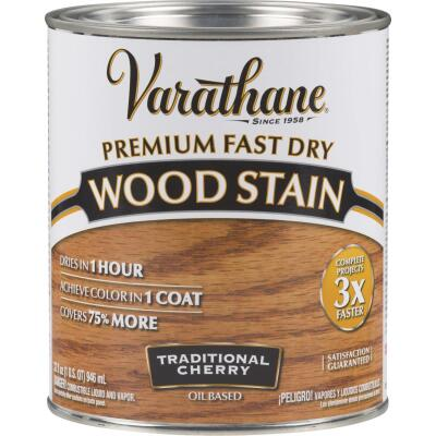 Varathane Fast Dry Traditional Cherry Urethane Modified Alkyd Interior Wood Stain, 1 Qt.