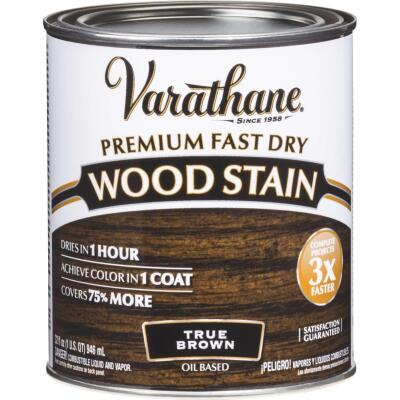 Varathane Fast Dry True Brown Urethane Modified Alkyd Interior Wood Stain, 1 Qt.