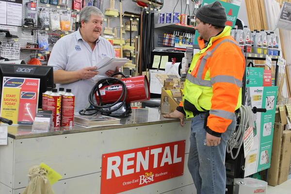 tool rental counter and employee